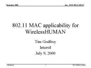 September 2000 doc IEEE 802 11 00247 802