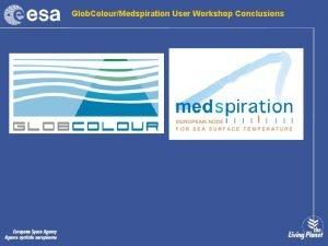 Glob ColourMedspiration User Workshop Conclusions Workshop Conclusions Medspiration
