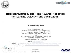 Nonlinear Elasticity and Time Reversal Acoustics for Damage