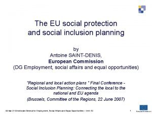 The EU social protection and social inclusion planning