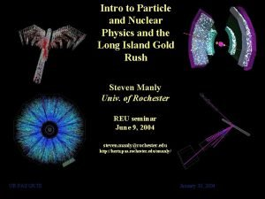 Intro to Particle and Nuclear Physics and the
