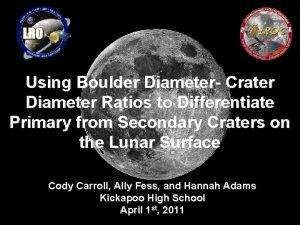 Using Boulder Diameter Crater Diameter Ratios to Differentiate