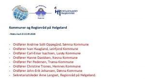 Kommuner og Regionrd p Helgeland Mte med JD