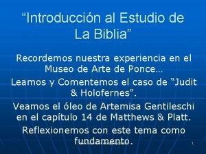 Introduccin al Estudio de La Biblia Recordemos nuestra