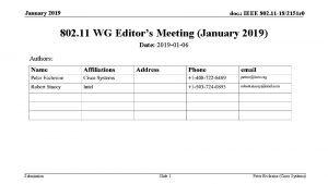 January 2019 doc IEEE 802 11 182151 r