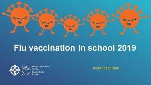 Flu vaccination in school 2019 Insert date here