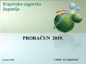 PRORAUN 2019 prosinac 2018 VODI ZA GRAANE TO