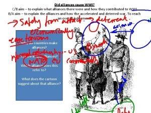 Did alliances cause WWI CB aim to explain