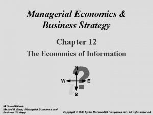 Managerial Economics Business Strategy Chapter 12 The Economics