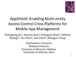 App Shield Enabling Multientity Access Control Cross Platforms