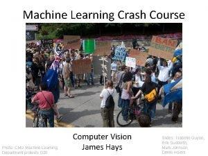 Machine Learning Crash Course Photo CMU Machine Learning