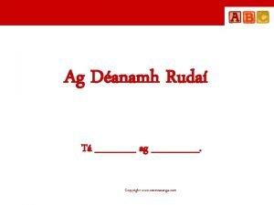 Ag Danamh Ruda T ag Copyright www seomraranga