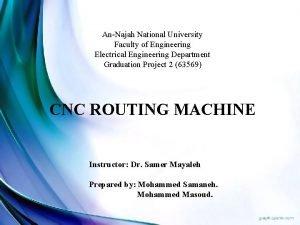 AnNajah National University Faculty of Engineering Electrical Engineering