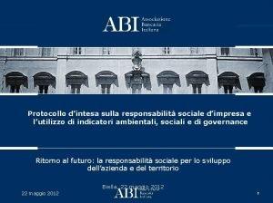Protocollo dintesa sulla responsabilit sociale dimpresa e lutilizzo