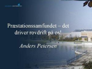 Prstationssamfundet det driver rovdrift p os Anders Petersen
