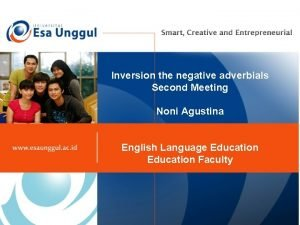Inversion the negative adverbials Second Meeting Noni Agustina