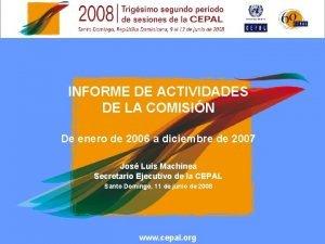 INFORME DE ACTIVIDADES DE LA COMISIN De enero