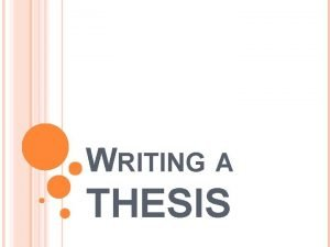 WRITING A THESIS WHAT IS A THESIS STATEMENT