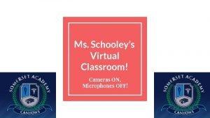 Ms Schooleys Virtual Classroom Cameras ON Microphones OFF