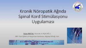 Kronik Nropatik Arda Spinal Kord Stimlasyonu Uygulamas Sinan