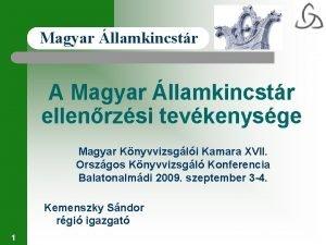 Magyar llamkincstr A Magyar llamkincstr ellenrzsi tevkenysge Magyar