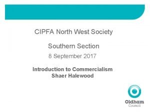 CIPFA North West Society Southern Section 8 September