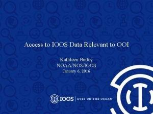Access to IOOS Data Relevant to OOI Kathleen