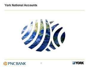 York National Accounts 1 AGENDA 1 Introductions 2