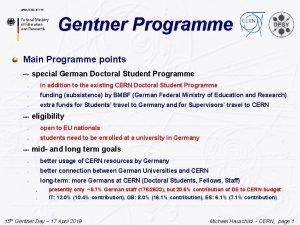 Gentner Programme Main Programme points special German Doctoral