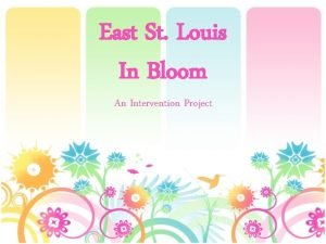 East St Louis In Bloom An Intervention Project