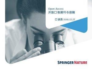 2 Springer Nature OPEN ACCESS BOOKS PARTNERSHIP JOURNALS