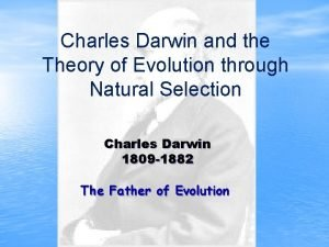 Charles Darwin and the Theory of Evolution through