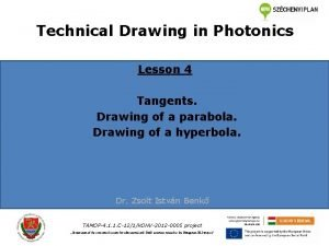 Technical Drawing in Photonics Lesson 4 Tangents Drawing