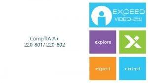 Comp TIA A 220 801 220 802 www