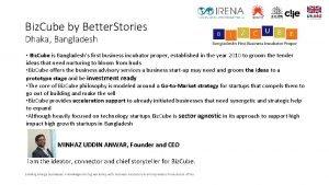 Biz Cube by Better Stories Dhaka Bangladesh Biz