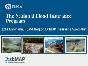The National Flood Insurance Program Edie Lohmann FEMA
