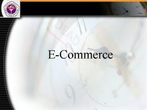 ECommerce Pembahasan 1 2 3 4 Pengertian ECommerce
