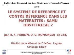 Diplme Inter Universitaire de Soins Obsttricaux et Nonatals