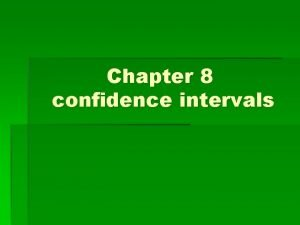 Chapter 8 confidence intervals Activity Roll a Real