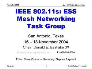November 2004 doc IEEE 802 11 041149 r