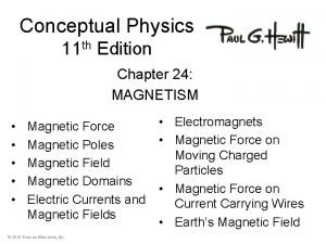 Conceptual Physics 11 th Edition Chapter 24 MAGNETISM