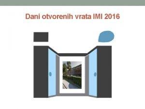 Dani otvorenih vrata IMI 2016 ODREIVANJE PESTICIDA U