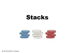 Stacks 2004 Goodrich Tamassia Stack Last In First