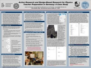 Action Research and DesignBased Research for Physics Teacher