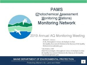 PAMS Photochemical Assessment Monitoring Stations Monitoring Network 2019