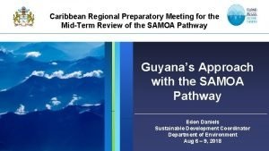 Caribbean Regional Preparatory Meeting for the MidTerm Review