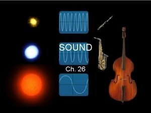 SOUND Ch 26 How is sound produced Sound