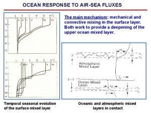 OCEAN RESPONSE TO AIRSEA FLUXES The main mechanism