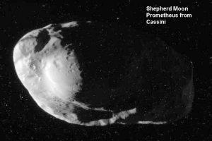 Shepherd Moon Prometheus from Cassini Shepherd Moon Prometheus
