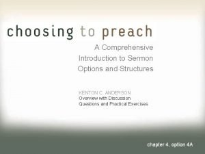 A Comprehensive Introduction to Sermon Options and Structures